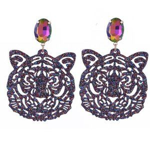 Hey there Tiger Multi laser cut acrylic earrings